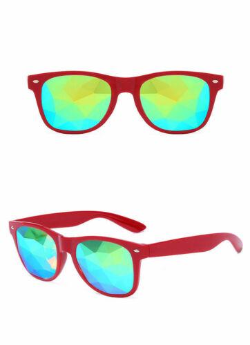 Square Kaleidoscope Crystal Lens Dance Rave Festival Party Sunglasses Glasses