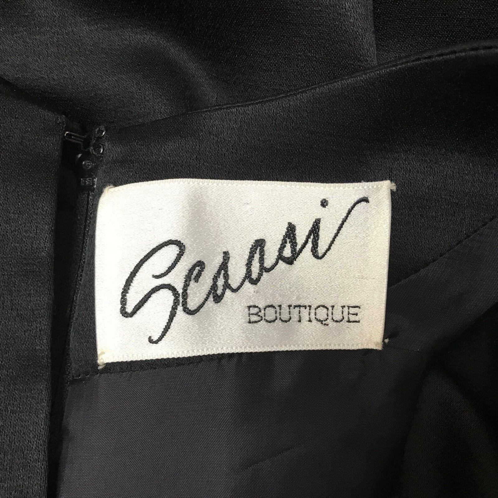 VINTAGE SCAASI BOUTIQUE DRESS COCKTAIL DRESS BLAC… - image 7