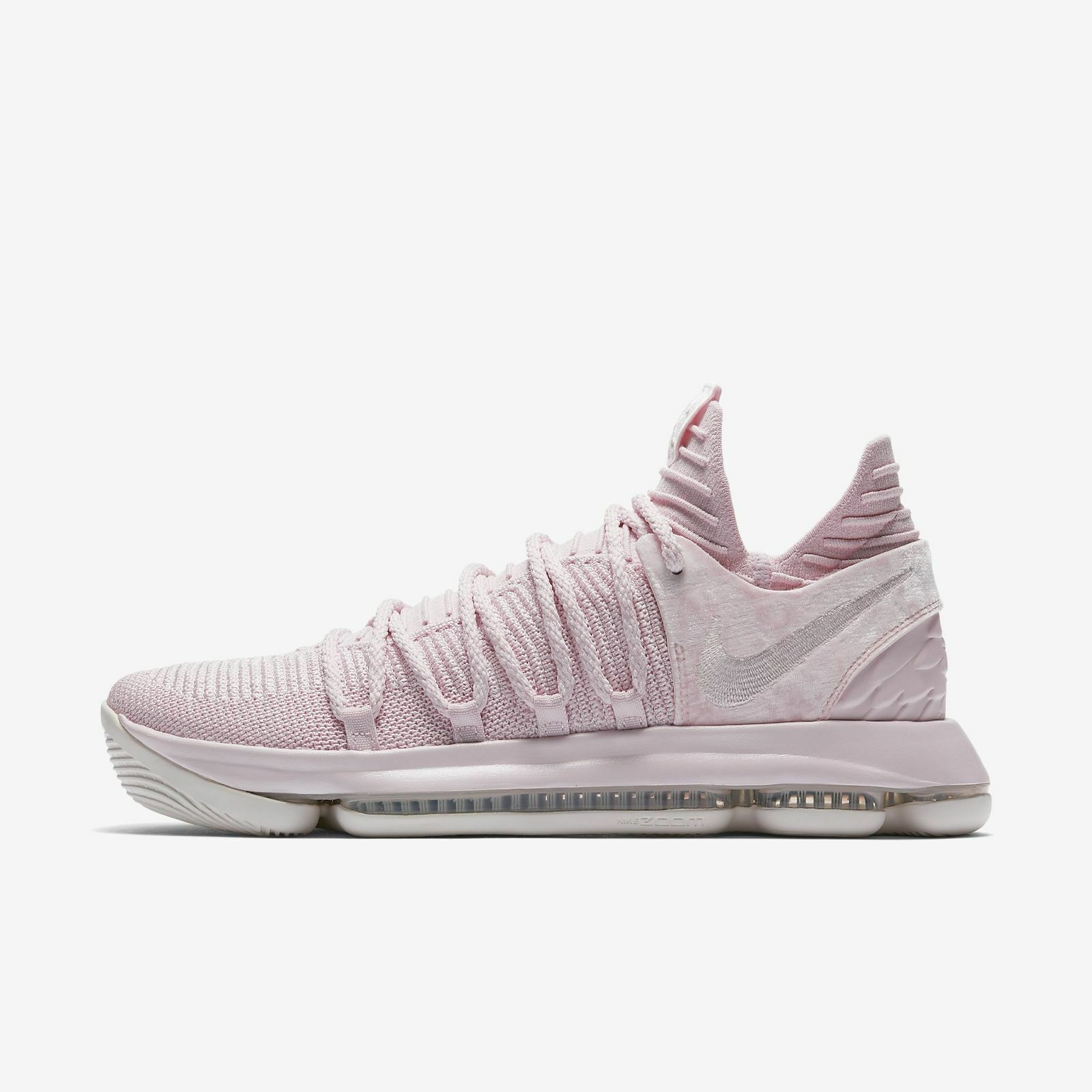 New Nike Zoom KD 10 X AP Aunt Pearl Pink White Sail Durant Size 9.5 AQ41110 60