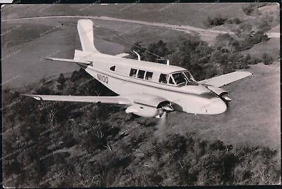 To Help Digest Greasy Food Transport & Verkehr Foto-ak-beechcraft Queen Air U.s.a N110q-flugzeug-airplane