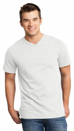 DT6500 District Men/'s V Neck Casual Short Sleeve 100/% Cotton Basic Tee XS-4XL