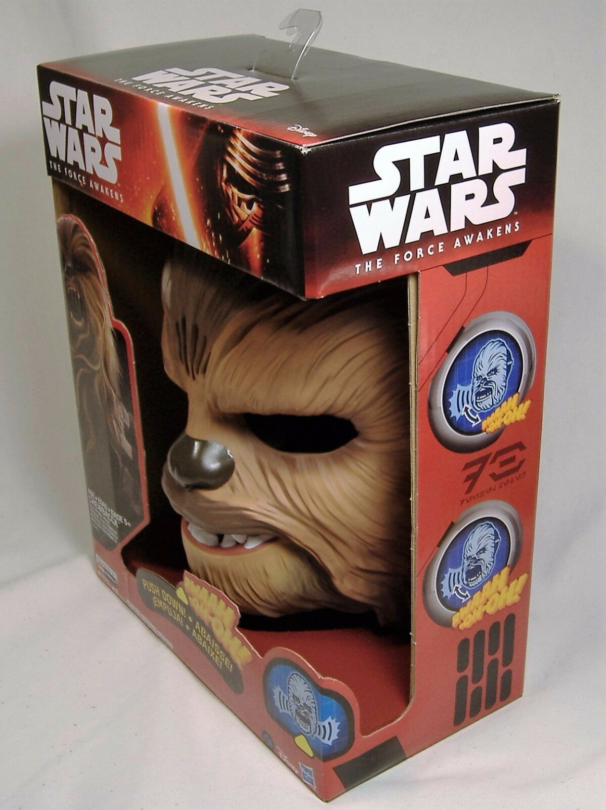 STAR WARS CHEWBACCA ELECTRONIC SOUNDS MASK THE FORCE FORCE FORCE AWAKENS BRAND NEW SOLD OUT 0a0358