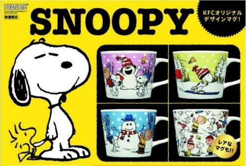KFC Japan Peanuts Snoopy mug 4cup Complete set Limited F//S Boxed New