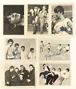 Vintage 1964 Beatles Trading Card Lot of 7 3rd Series Black & White