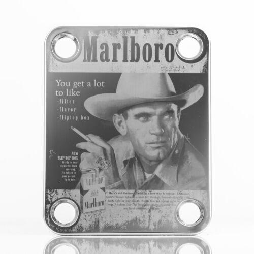 CHROME Engraved Guitar//Bass Neck Joint Heel//Back Plate Standard 4 Bolt #2089