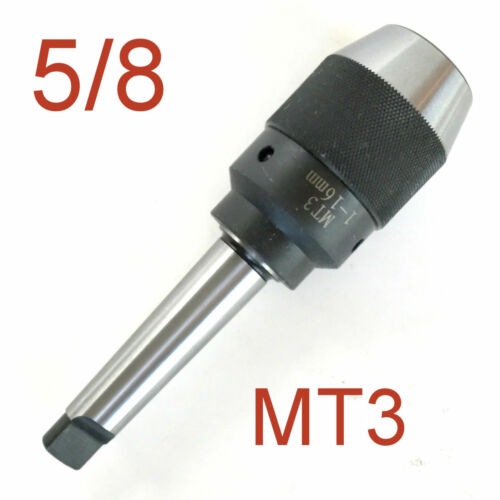"""1 pc Keyless 1//32/""""-5//8/"""" Drill Chuck Integral Integrated 3MT MT3 Shank for CNC S"""