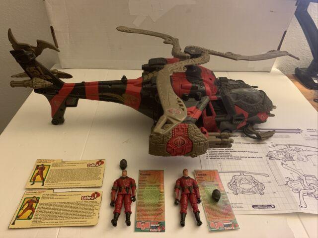 2002 GI Joe Spy Troops Cobra Crimson Command Copter w Tomax & Xamot Look!