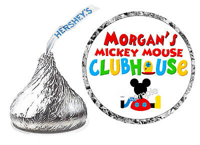 108 MICKEY MOUSE CLUBHOUSE BIRTHDAY PARTY FAVORS HERSHEY KISS KISSES LABELS