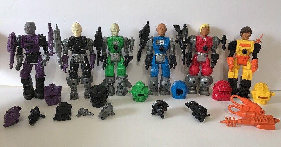 Remco Mantech Robot Warriors Lot Of 6 6 6 Figures 90%-100% Complete Original Man Tec 59b7d1