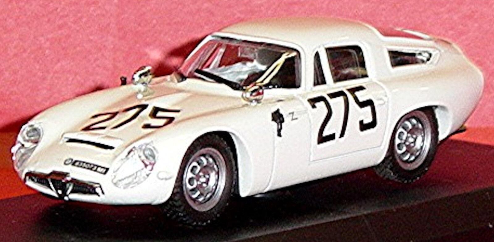 ALFA ROMEO TZ 1 1 1 MONZA 1963 #275 BLANC BLANC 1:43 Best 2d220c