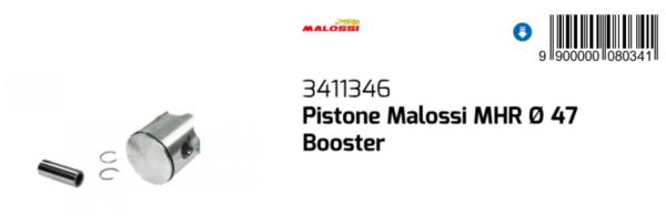 3411346 Pistone Malossi Mhr Ø47 Per Yamaha Slider 50 / Eu2 2000-2016