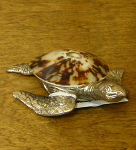 Kubla Crafts Shell Sculptures #KC1169 SEA TURTLE, From ...