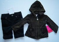 Amy Coe 3-6 Months Black & Gold Glitter Hoodie And Black Jeans