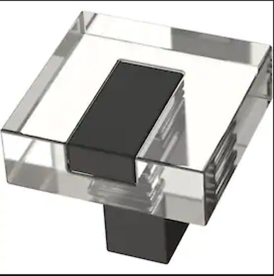 "Brainerd P42957W-FB Matte Black 1 1//4/"" Casual Column Cabinet Drawer Knob"