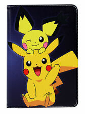For iPad Air 1/2 iPad 5/6 Great Pokemon Pikachu Style Smart Stand Case Cover Kid