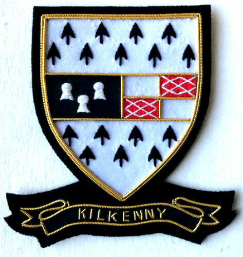 HAND EMBROIDERED IRISH COUNTY KILKENNY COLLECTORS HERITAGE ITEM TO BUY CP MADE
