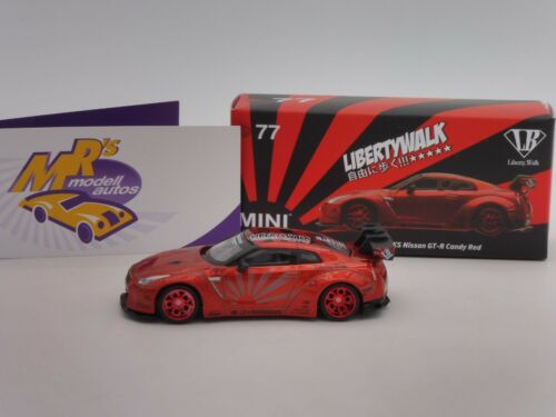 "TSM mgt00077-l # Nissan GT-R r35 Type 1 Candy Red /""Liberty Walk/"" 1:64 nuevo"