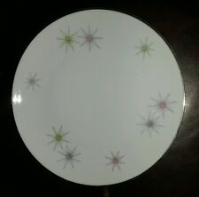 "Mid Century Atomic Bavaria Cathedral Starburst China W. Germany 7"" Lunch Plate"