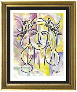 Pablo-Picasso-Signed-Hand-Numbered-Ltd-Ed-034-War-amp-Peace-034-Litho-Print-unframed
