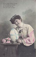 """""""Donnerait son Oeuf que pour avoir un Veuf"""" 1903-15 French Comic Easter Postcard"""