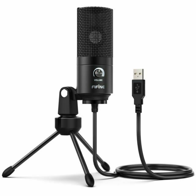 Fifine K669B 5V Cardioid USB Condenser Microphone for Audio Studio Recording US