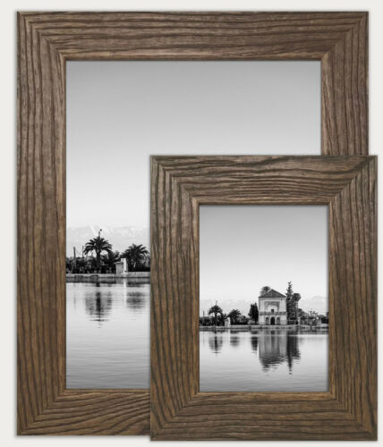 Walnut Photo Frame Picture Poster Wood Effect Wall Mounted Rustic All Sizes UK