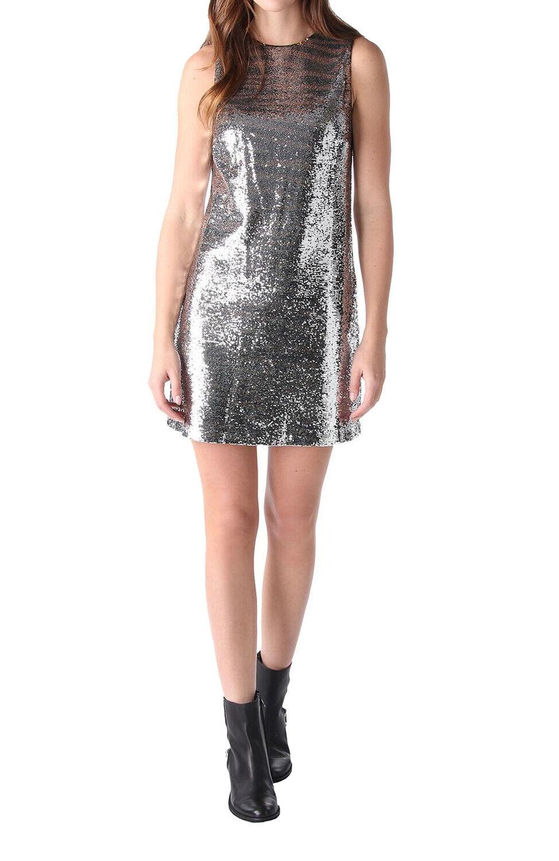 Diesel D-Jettie Abito Damen Kleid Metallic Silber
