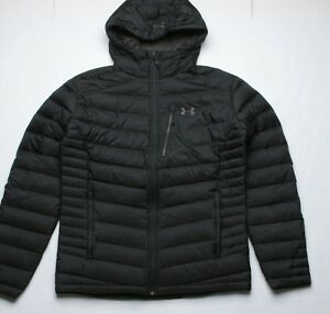 Under Armour ISO Down Hooded Jacket (L) Black 191632151823 ...