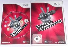 "NINTENDO WII SPIEL"" THE VOICE OF GERMANY "" OVP + ANLEITUNG"