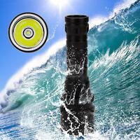 Underwater 2500LM XML T6 LED Scuba Diving Flashlight Torch Waterproof Light 100M