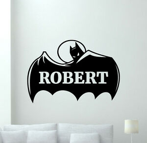 image is loading custom name batman wall decal personalized superheroes vinyl