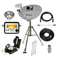 Directv Hd Portable Satellite Dish Mobile Tripod Kit Rv Tailgating Camping