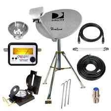 DIRECTV HD Portable Satellite Dish Mobile tripod kit RV Tailgating Camping