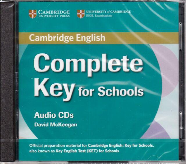 Cambridge COMPLETE KEY (KET) FOR SCHOOLS Class Audio CD's (2) @New@