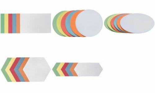 300xFRANKEN Moderationskarten farbig  Kreise selbstklebend Schreibkarte