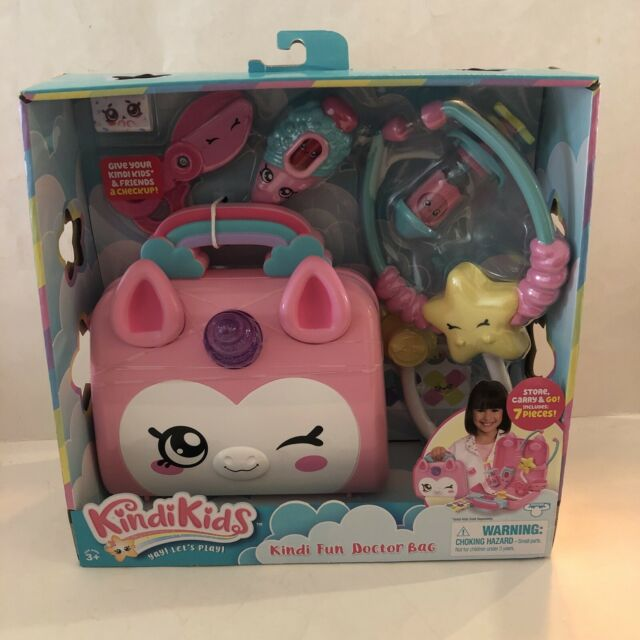 Kindi Kids Doctor Bag - Kindi Fun Unicorn Toy Doctor Bag w/ Shopkins Accessories