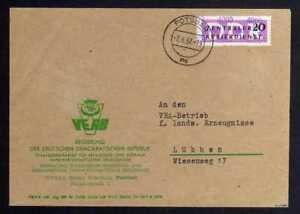 B1858 DDR ZKD 15 Kontrollnummer 4000 Brief Potsdam geprüft BPP VEAB nach Lübben