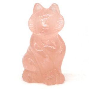 3-034-Natural-Rose-Quartz-Crystal-Carved-Fox-Statue-Crafts-Home-Decor