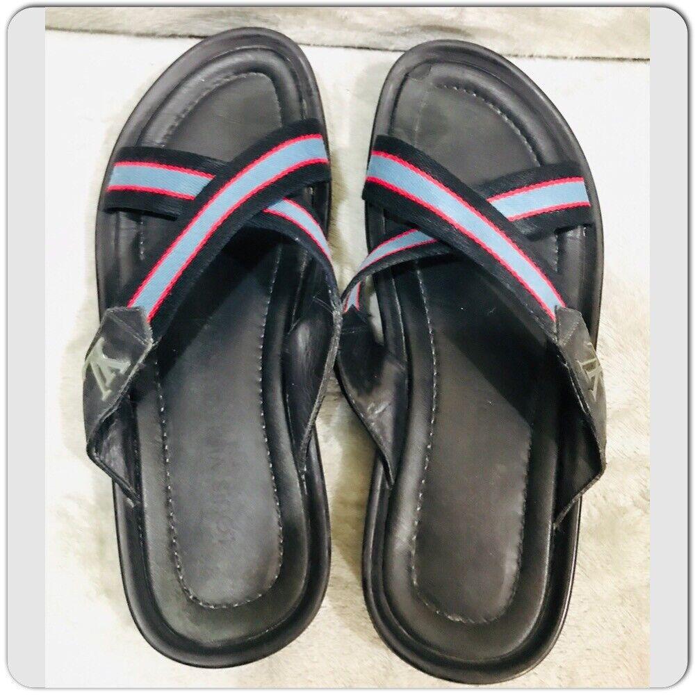 Louis Vuitton leather Canvas Men's Sandals Size 7 - image 5