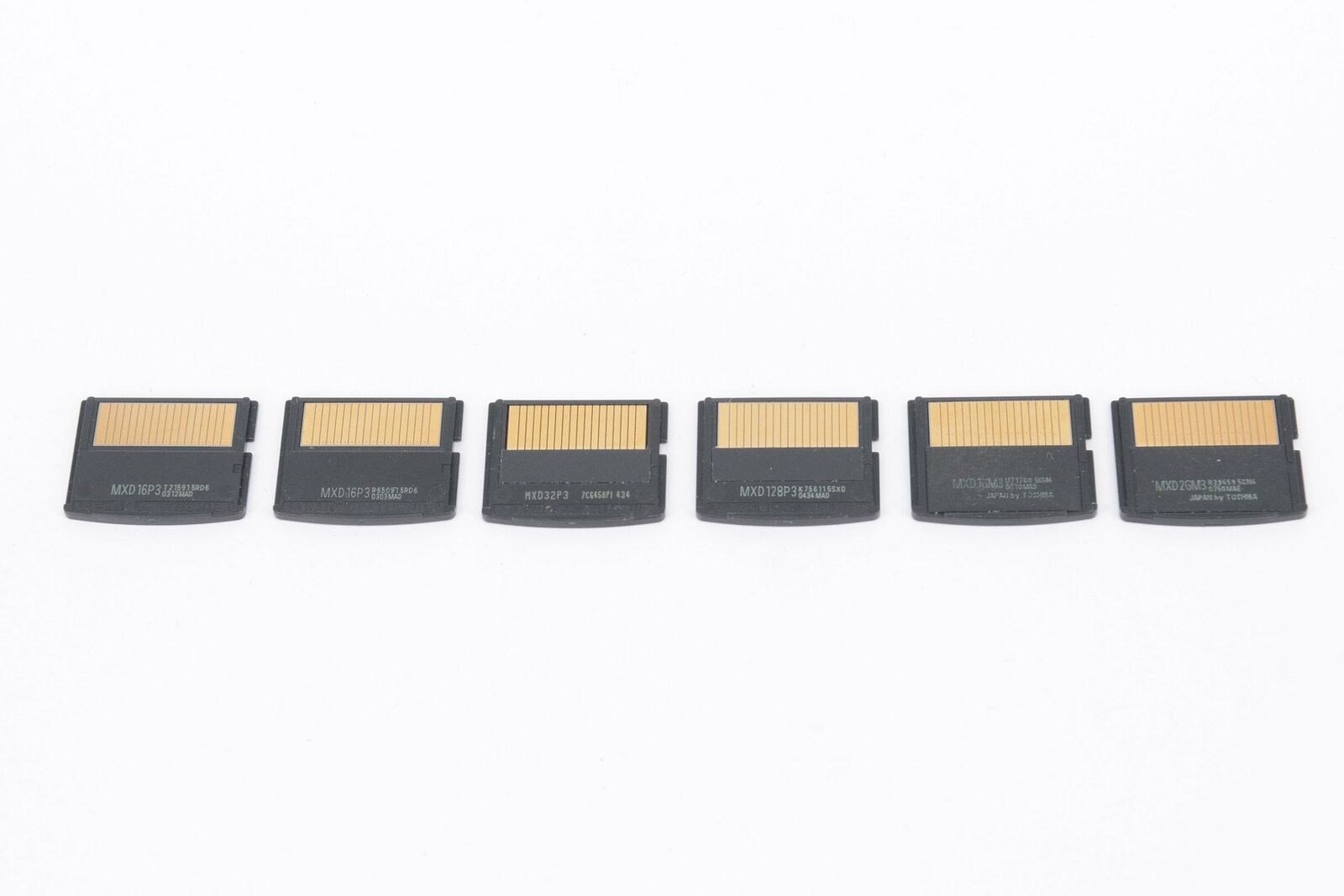 OLYMPUS 6x xD Memory Cards from 16MB to 3GB in size & Olympus Cardholder - P...