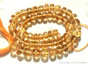 Citrine 8mm-15mm (3 Large Checkerboard Faceted Rondelle) Select-A-Size A++