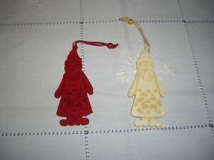 2-Filzanhaenger-Christbaum-Baum-Schmuck-Advent-Weihnachten-Weihnachtsmann-Deko