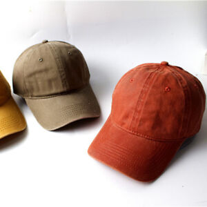 Baseball-Cap-Adjustable-Hat-Vintage-Washed-Dyed-Cotton-Twill-Low-Profile-OW