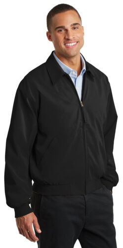 J730 Port Authority Men/'s Front Pocket Casual Full Zip Microfiber Basic Jacket