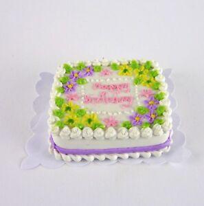 Closeout-Dollhouse-Miniature-Happy-Birthday-Sheet-Cake-with-Purple-K2305