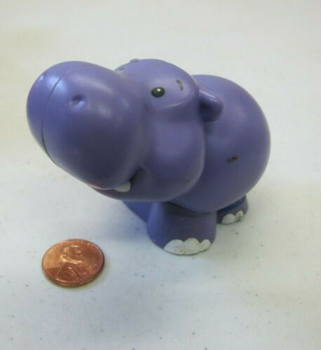 Fisher Price Little People LARGE PURPLE HIPPO Ark Zoo Hippopotamus Safari