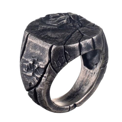 Men/'s Women Stainless Steel Ring Gothic Punk Skull Biker Finger Rings Jewelry