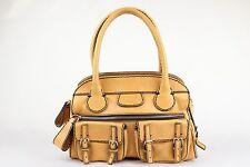 Chloe - Beige / Tan Leather Large Edith Bowler Bag Satchel Purse Handbag