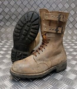 Genuine French Foreign Legion Brown Leather / Suede Army Boots Size 40 NEW FB02B
