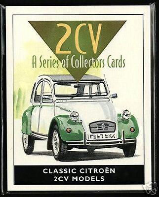 CITROEN 2CV ORIGINALE per Collezionisti Scheda Set 1952-1983 modelli SPOT Charleston AZA